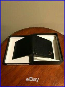 NEW AUTHENTIC Gucci Men's Black Leather Marmont Bi-Fold Wallet FREE SHIPPING
