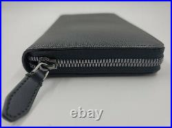 NEW Bally Mens Mallen ZIippered Calf Embossed Leather Wallet MSRP $720 Italy