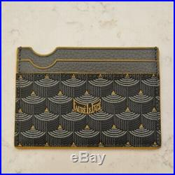 NEW Faure Le Page Steel Grey Yellow Edge Card Holder Case Wallet Porte Cartes