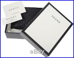 NEW GUCCI NAVY BLUE MICRO GUCCISSIMA LEATHER CARD HOLDER CASE WALLET WithBOX