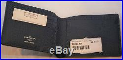 NEW Mens Louis Vuitton Bleu Marine Multiple Wallet M30530 With Tags Taiga France