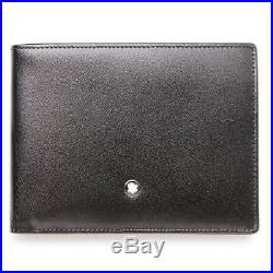 NEW Montblanc Meisterstuck Wallet 6CC Black Leather 14548