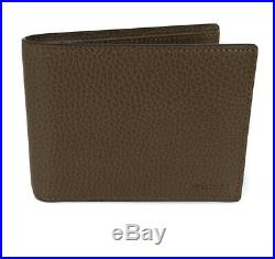 NEWithAUTHENTIC GUCCI 333042 Men's Leather Embossed Logo Bifold Wallet, Brown