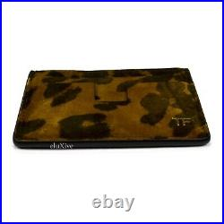 NWT $350 TOM FORD Men's Leopard Print Suede Card Holder Case Wallet TF AUTHENTIC