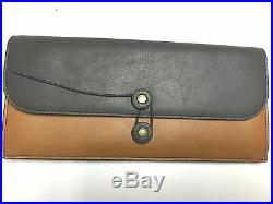 NWT COACH Men's Bleecker Colorblock Leather Long Travel Wallet F65978