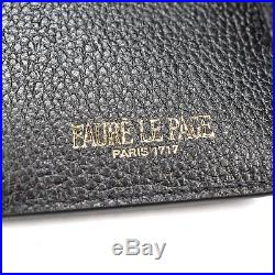 NWT Faure Le Page Steel Gray Black 8CC Cal Pistol Leather Logo Wallet AUTHENTIC