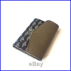 NWT Faure Le Page Walnut Brown PC Parade Leather Wallet Card Coin Case AUTHENTIC