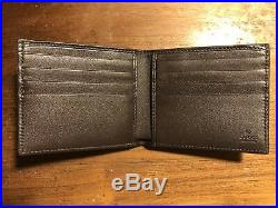 NWT GUCCI Men's Classic Brown Soft Guccissima Leather Bi-fold Wallet ITALY
