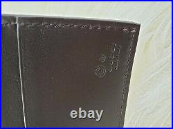 NWT Gucci Mens 2 in 1 Wallet Brown Leather WithLarge Bifold Wallet+Small ID wallet