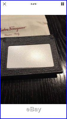 New Auth. Salvatore Ferragamo Men Revival Bifold Leather Wallet Card Holder $450