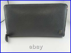 New Bally Mens Balen Travel Wallet Black Calf Grained Leather Made In Italy $720