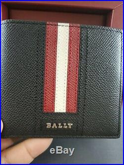 New Bally Mens Gift Box Tevye Wallet And Tancy Leather Key Holder Keyring $450