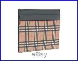 New Burberry Mini Check Sandon Card Holder Case Wallet Tags Authentic
