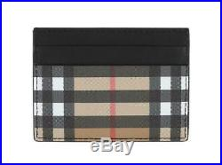 New Burberry Vintage Check Sandon Card Holder Case Wallet Tags Authentic