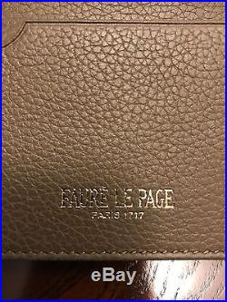 New Faure Le Page Men's Bifold ID Credit Card Money Holder Wallet Walnut Brown