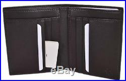 New Gucci 292533 Men's Brown Leather Micro GG Guccissima Vertical Bifold Wallet