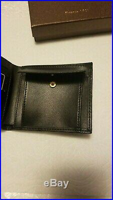 New Gucci Authentic Mens Black-Stripe Web GG Bifold Wallet+Coin Pouch- NO RESERV