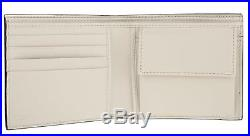 New Gucci Bicolor Leather Selleria Swing CC Case Holder Bifold Wallet