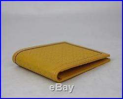 New Gucci Hillary Lux Yellow Diamante Leather Bifold Wallet 225826 7011