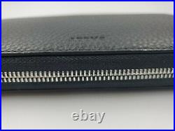 New Mens Bally Selen Zip Around Wallet Black Calf Leather Made in Italy MSR $620