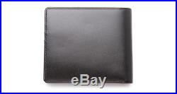 New Montblanc Meisterstuck Tri-Fold Black Leather Men's Wallet 7163
