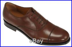 New Salvatore Ferragamo Gerry Brown Leather Oxford Lace-up Dress Shoes 10 Ee