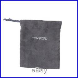 New TOM FORD Palladium-Plated Metallic Silver Leather Bi-Fold Wallet