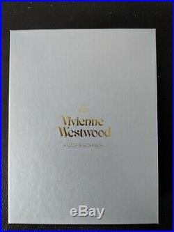 New Vivienne Westwood Men's Wallet. Brown and Navy. Leather, boxed