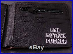 PU Faux Brown Leather Bad Mother BMF Wallet Pulp Fiction Film Coin Purse