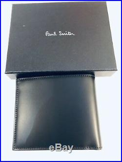 Paul Smith Men Wallet Bifold Mini Black Made In Italy On Sale