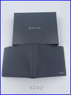 Paul Smith Men Wallet Bifold With Card CN Mini Black Made In Italy