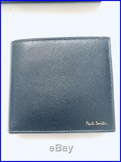 Paul Smith Men Wallet With Coin Black Made In Italy Minigeo