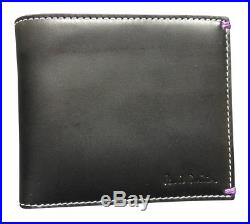 Paul Smith Men's Shark Tooth Billfold with Coin Wallet Leather Made in Italy