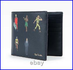 Paul Smith Wallet Navy Calf Leather Mens Womens Bifold M1A 4832 A40253 47 Auth
