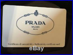 Prada Money Clip Wallet Mens Saffiano Leather New with Box