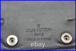 RARE Auth Louis Vuitton Mens Compact Cafe Glace Wallet Brown EUC+FREE CHANEL