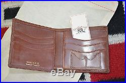 Ralph Lauren RRL Hand Made in England Saddle Bridle Leather Bifold Wallet