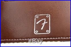 ST Dupont Fender Special Edition Tweed Canvas Brown Leather 8cc Billfold Wallet