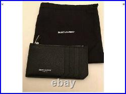 Saint Laurent Mens Black Leather Card Holder RRP £175 Made In Italy