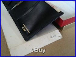 Shell Cordovan by Huch Wallet New Old Stock Vintage LIMITED Black Leather custom