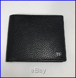TOM FORD Grained Leather Bifold Wallet Black / Silver Hardware