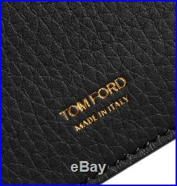 Tom Ford Grained Leather Billfold Black Wallet Y0228F-C95 BNWT Signature