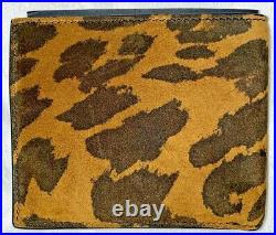 Tom Ford Mens Leopard And Leather Bi Fold Wallet