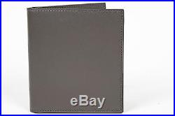Tom Ford NWT $550 Grey Gray Smooth 100% Calf Leather Bifold Wallet Card Holder