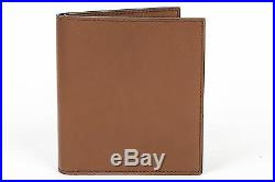 Tom Ford NWT Tobacco Brown Smooth 100% Calf Leather Bifold Wallet Card Holder