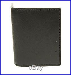 Tom Ford New Black Smooth Calf Leather Bifold Wallet Card Holder Made in Italy
