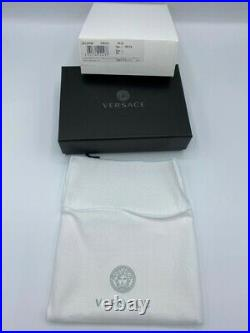 Versace Mens Black Leather Wallet With Money Clip BRAND NEW