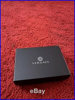 Versace Mens Designer Wallet Black BRAND NEW WITH TAGS MSRP$450.00 plus tax