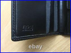Versace Mens Leather Wallet New Bifold Black Made In Italy