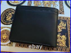 Vertu V Collection Mens Black Leather Wallet Rare and Collectible Handmade
